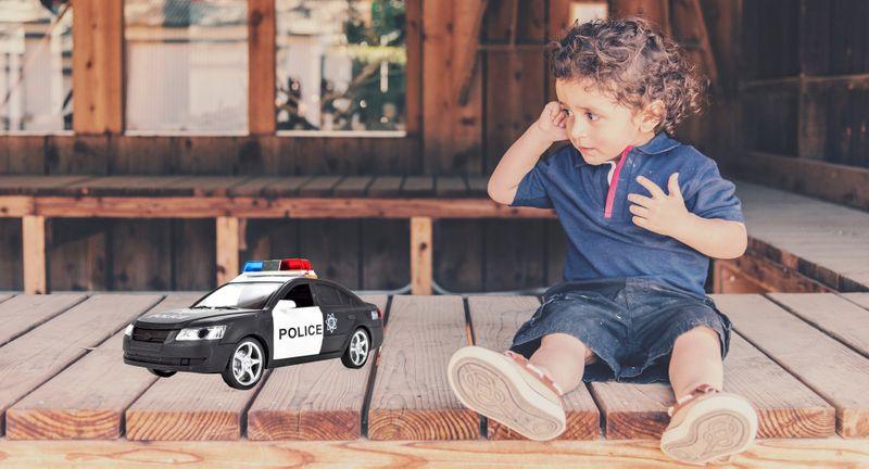 Samochód policyjny Radiowóz interaktywny dźwięki i światła Y259 zdjęcie 2