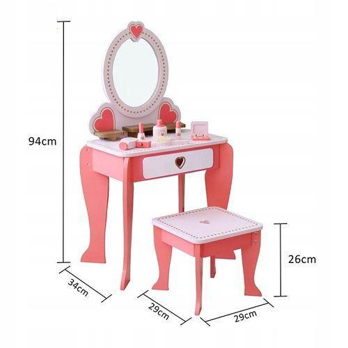 Duża drewniana toaletka dla dzieci akcesoria lustr na Arena.pl