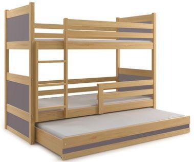 Łóżko łóżka dziecięce dla dzieci RICO piętrowe 3osobowe 160x80