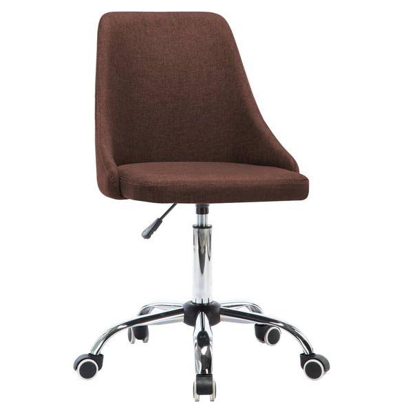 Krzesła Stołowe, 4 Szt., Brązowe, Tkanina zdjęcie 3
