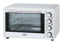 Adler Ad 6001 34 L, Mini Oven, White, 1600 W