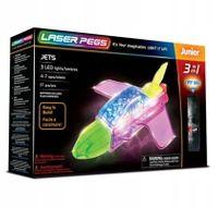 Laser Pegs Świecące Klocki 3W1 Jets 3D Box 31014