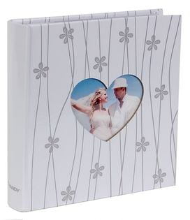 ALBUM ŚLUBNY, ślub szyty na 200 zdjęć 10x15 cm opis COUPLE biały