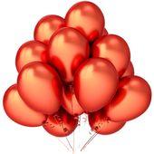 Balony lateksowe, czerwone, 12szt Kolor - Czerwony