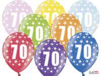 Balony urodzinowe 36 cm LICZBA 70 lat urodziny x6