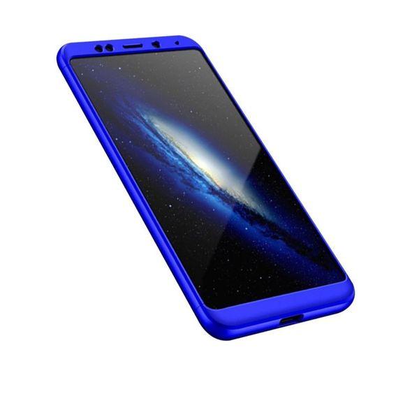 360 Protection etui na całą obudowę przód + tył Xiaomi Redmi 5 Plus / Redmi Note 5 (single camera) niebieski zdjęcie 3