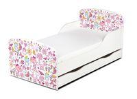 Łóżko dla dzieci 140x70 z materacem i szufladą Marzenia Księżniczki 4S