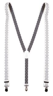 Biało-szare szelki w grochy unisex X6