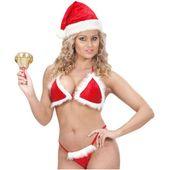 STRÓJ świąteczny BIKINI MIKOŁAJKA czerwony SEXY