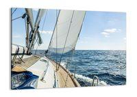 Obraz Na Płótnie - Jacht Morze Wiatr - 70X50 Cm - Aa70X50-3647