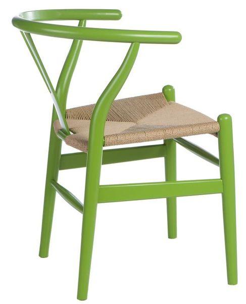 Krzesło Wicker Color zielone zdjęcie 2