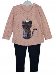 Komplet dziewczęcy Kot, bawełna roz.92