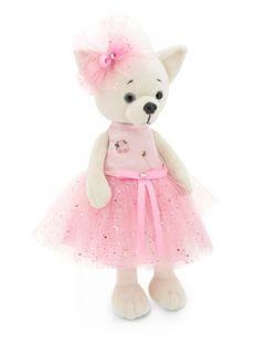 Przytulanka piesek Lucky Lili w różowej sukience #T1
