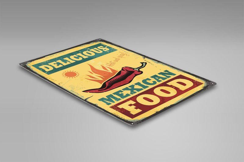Wydruk na metalu, Retro – meksykańskie jedzenie 40x60 zdjęcie 2