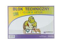 Blok techniczny z kolorowymi kartkami A4 8 kartek