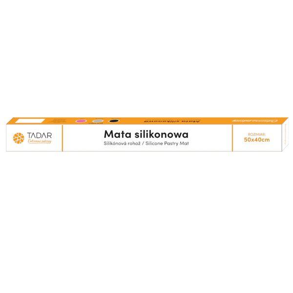 Stolnica Silikonowa 50X40Cm Mata Kuchenna Czarna Tadar Silico Td-0878 na Arena.pl