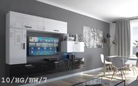 Meble wiszące do salonu ESTAR C10 Połysk ścianka LED szafki RTV