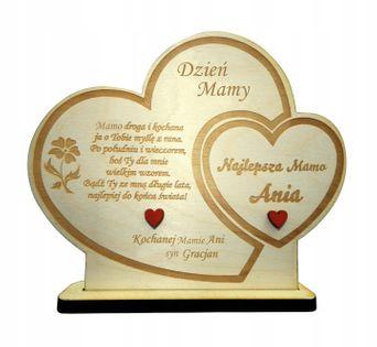 Prezent DZIEŃ MAMY MATKI STATUETKA DREWNIANA 3D