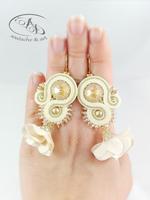 Kolczyki sutasz Flowery z kryształami Swarovskiego