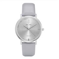 Elegancki zegarek KING HOON srebrny na szarym pasku