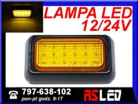 Lampa 18 LED 10x6 cm obrysowa boczna obrysówka bok 12v 24v pomarańcz