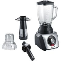 Bosch Silentmixx Pro Mmb66G7M Black/stainless Steel, 900 W, Glass Thermosafe, 2.3 L, Ice Crushing, Mini Chopper, Type Tabletop