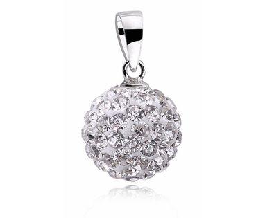 Kulka z kryształkami Swarovski shamballa discoball srebro 925 CRH0001C10