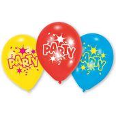 Balony imprezowe z nadrukiem PARTY kolorowe 6 szt