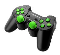 """Gamepad PS2/PS3/PC USB Esperanza """"Corsair"""" czarno/zielony"""