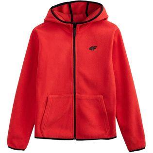 Bluza polarowa dla chłopca 4F czerwona HJL20 JPLM001A 62S 146cm