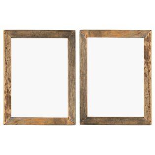 Lumarko Ramki na zdjęcia, 2 szt., 50x60 cm, drewno z odzysku i szkło!