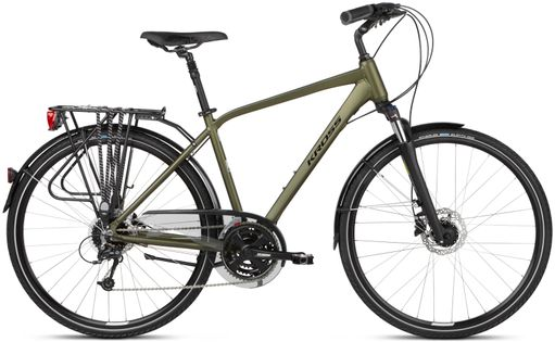 """Kross Trans 5.0 28 M 19"""" rower khaki/czarny połysk 12"""