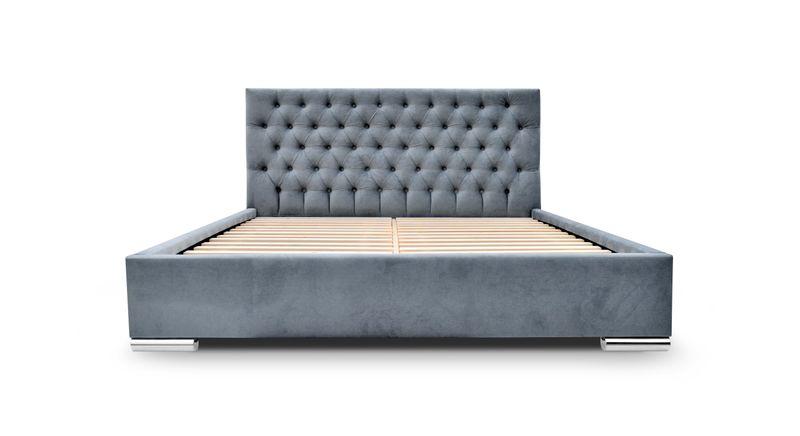 łóżko Sypialniane Chesterfield 160200 Z Pojemnikiem