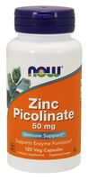 NOW FOODS Zinc Picolinate 50mg 120 weg kap Pikolinian Cynku