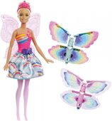Lalka Barbie Wróżka Latające Skrzydełka Dreamtopia Mattel FRB08
