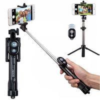Uchwyt Selfie Stick TripPod z Pilotem Bluetooth Czarny Kijek Selfi