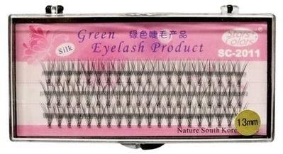 Green Eyelash Sztuczne jedwabne rzęsy 13MM zdjęcie 1
