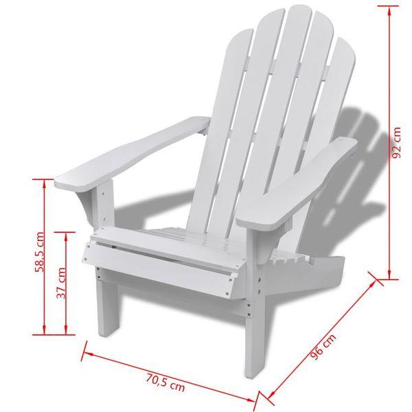 Krzesło Krzesła Ogrodowe Drewniany Biały