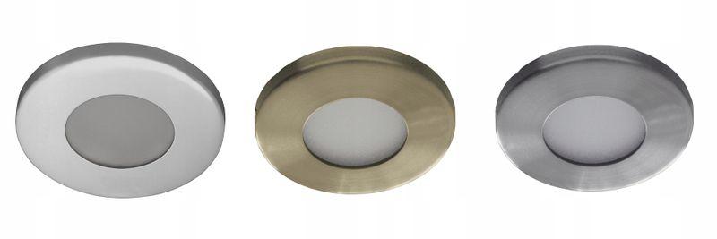 Oprawa Halogenowa łazienki Odporna Wilgoć Pył Mr16 Okrągła Zabudowy