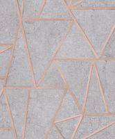 Tapeta Exposure Beton Metal Szara Miedziana ep3703