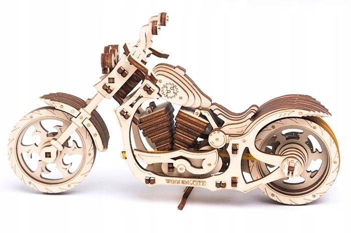 Motocykl Mechaniczne Puzzle 3D Drewniane Wooden City zdjęcie 7