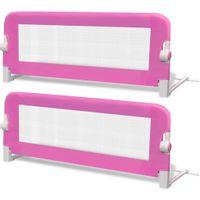 2 barierki do łóżeczka dziecięcego różowe 102x42cm