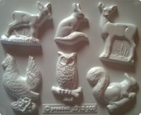 Forma do odlewów - Odlewy gipsowe - Leśne zwierzęta (2713105)