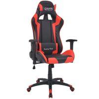 Rozkładane Krzesło Biurowe, Sportowe, Sztuczna Skóra, Czerwone