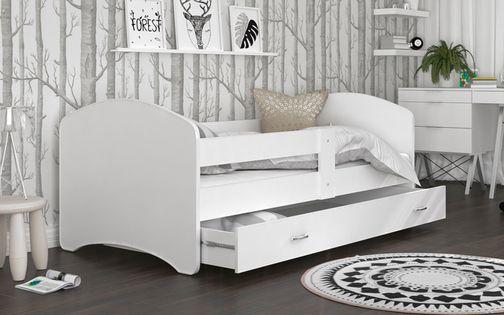Łóżko 200x90 LUCKY BIEL szuflada na prowadnicy