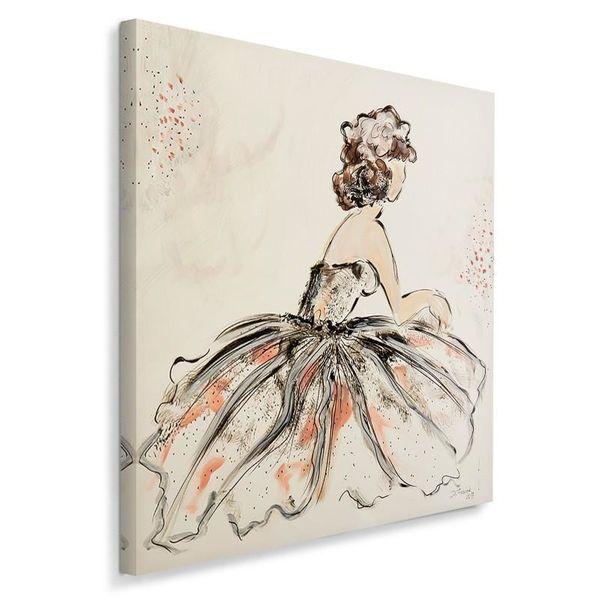 Obraz na płótnie - Canvas, Kobieta retro 60x60 zdjęcie 2