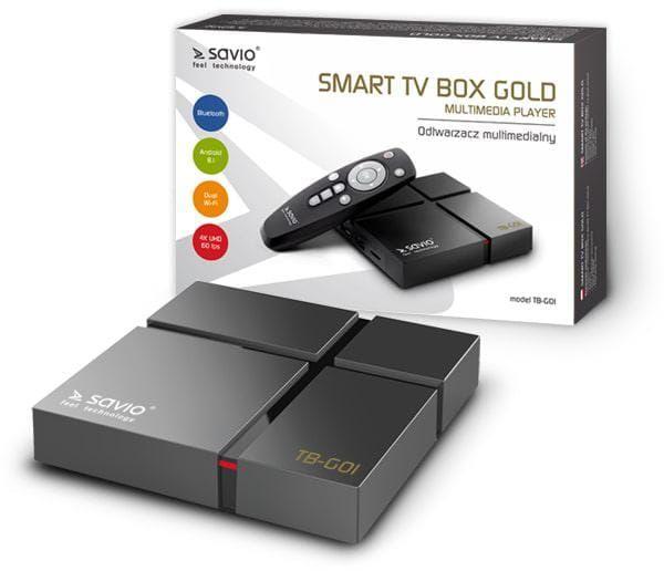 Savio Smart TV Box Gold TB-G01 zdjęcie 1