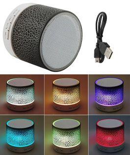 Głośnik bluetooth świecący G4801 czarny