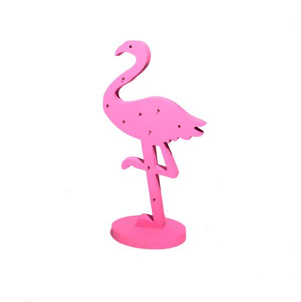 Różowy Flaming Podświetlany LED 43 cm Lampka Ozdoba zdjęcie 1