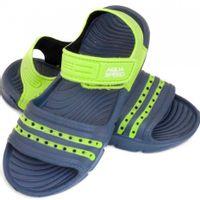 Klapki sandały basenowe dla dzieci Aqua-speed Noli granatowo zielone kol.48 31